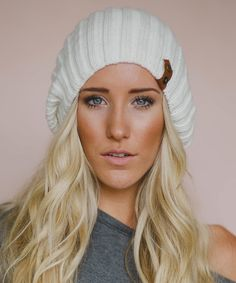 Ivory Slouch Hat