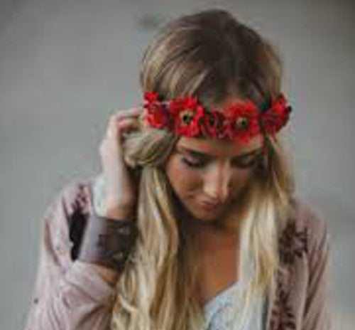 Poppy Head Wreath