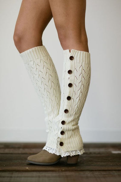 Lace Button Leg Warmers