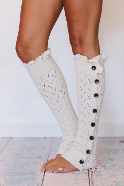 Crochet Lace Leg Warmers