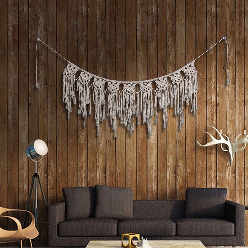Bohemian Macrame Wall Hanging Tapestry Boho Natural Fiber Gypsy Decor Home Wedding Festival Decoration