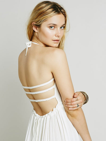 White Low Back Dress