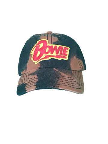 BOWIE BLACK BLEACHED DAD HAT