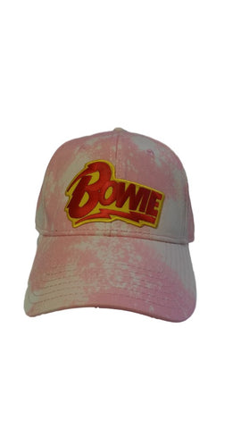 BOWIE PINK BLEACHED DAD HAT
