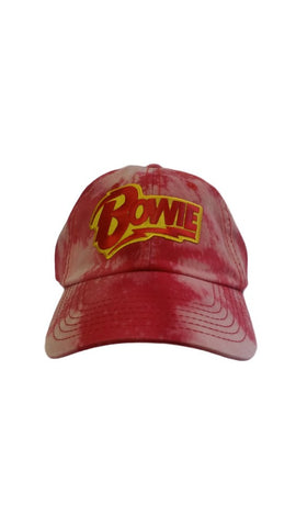 BOWIE RED BLEACHED DAD HAT