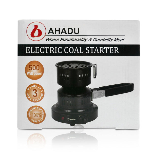 AHADU Electric Charcoal Starter/Burner and Mini Stove with Removable Tray and Detachable Tongs - Ahadu Store