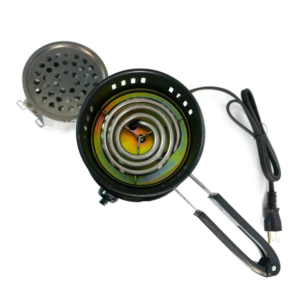 AHADU Electric Charcoal Starter/Burner and Mini Stove with Removable Tray and Detachable Tongs