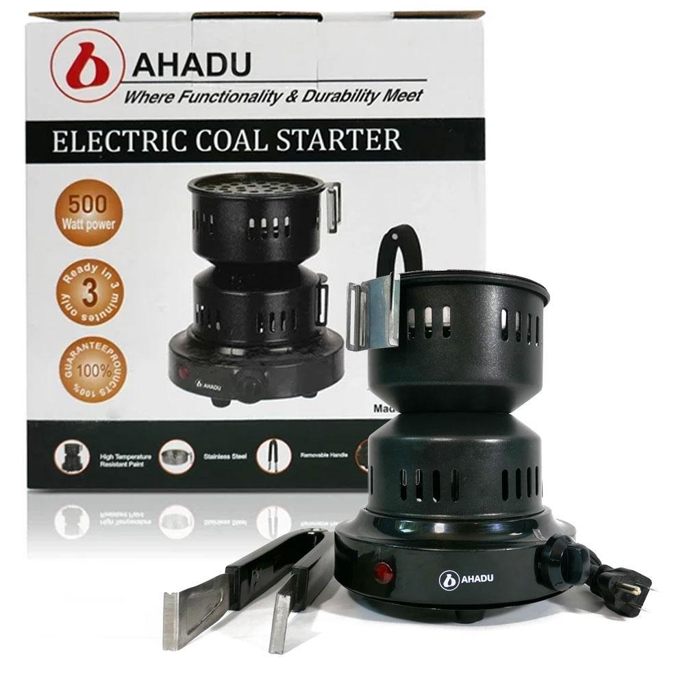 AHADU Electric Charcoal Starter/Burner and Mini Stove with Removable Tray and Detachable Tongs - Ahadu eStore