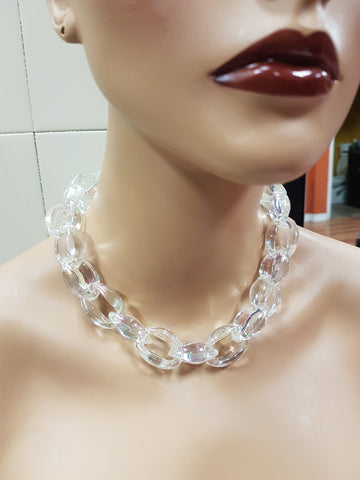 Acrylic choker necklace