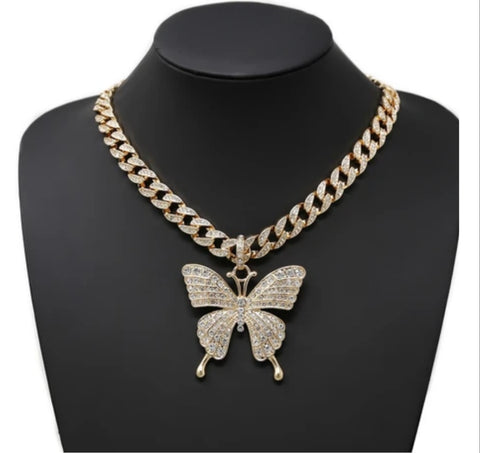 Premadona butterfly necklace