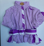 Lilac puffy sleeve blouse