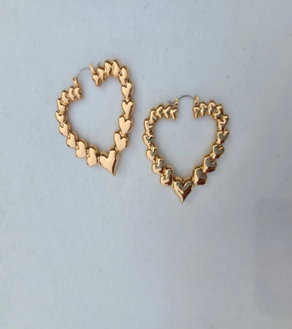 Taylor heart shaped  hoop earrings