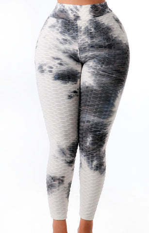 Women's white tie die leggings