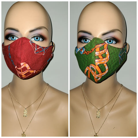 Women's Fashion Masks- Reversible  print