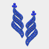 Royal blue statement earrings