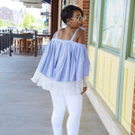 Abygail cold shoulder blouse