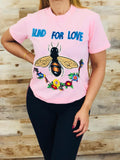 Pink Blind for Love tee shirt