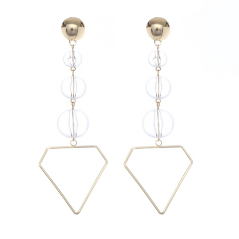 April ball drop statement earrings