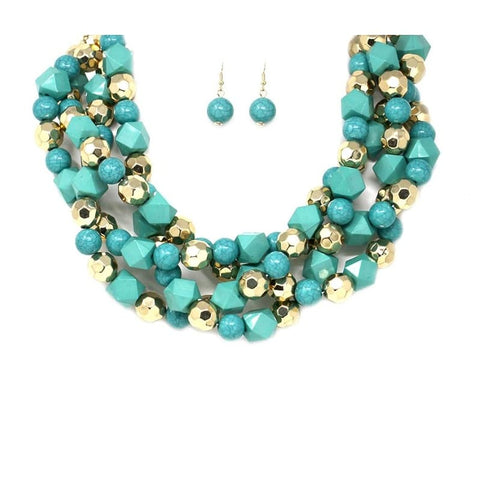 Statement girl short  collar necklace