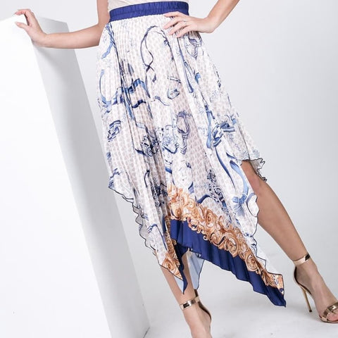 Julietta accordion pleat skirt