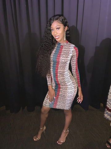 Tommie  Fendi inspired bodycon dress