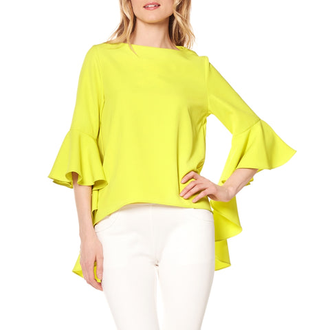 Rochelle long sleeve ruffle blouse