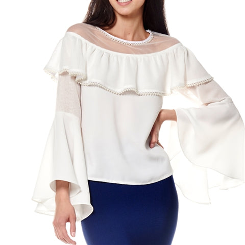 Gail  Ruffle Sleeved Top