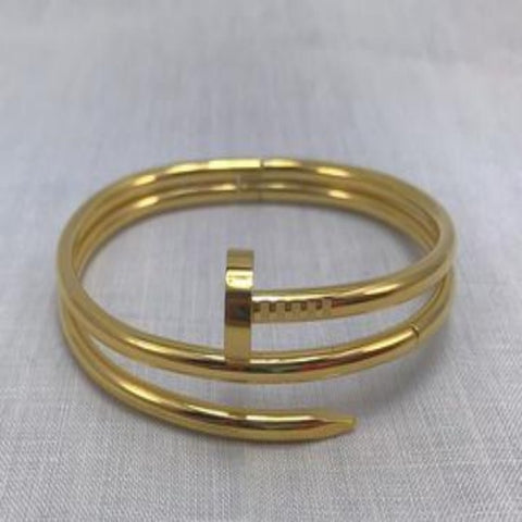 Double wrapped nail bracelet