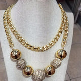 Aretha statement glam necklace