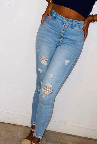 Amoya high rise denim pants