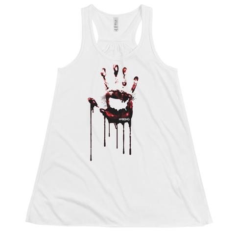 Stop the Bloodshed Women's Flowy Racerback Tank