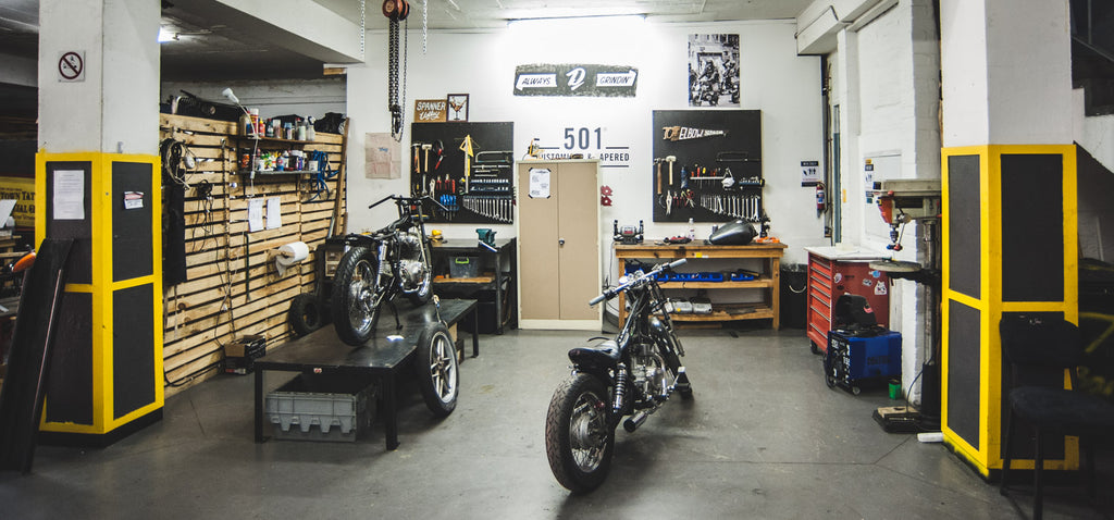 WMC woodstock moto co, garage, workshop, cape town, custom bike, cafe racer