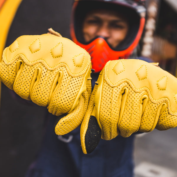 WMC Leather Gloves - Yellow