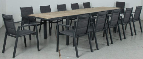 MALTA Aluminium Outdoor Dining Set: Ace Chairs with White U Legs