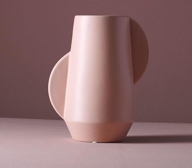 Tall Winged Vase - Light Pink - 29cm