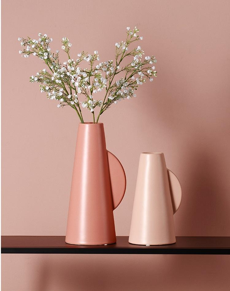 Abstract Vase - Pink - 25cm