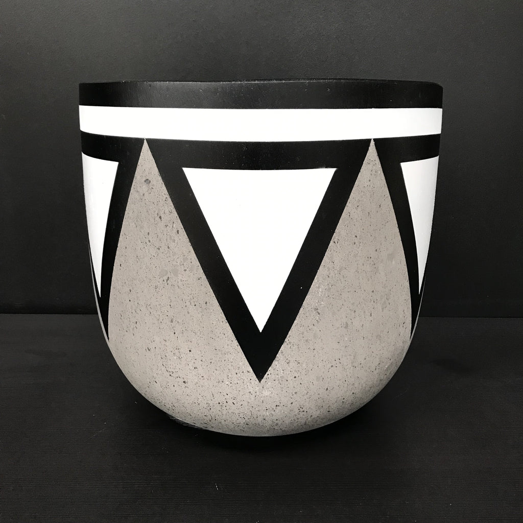 Painted White Crown - Concrete Tall Pot - Razzino Furniture