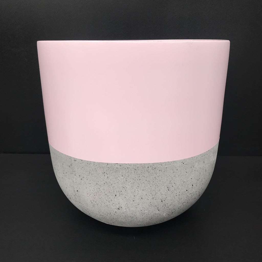 BLUSH Painted Top Dip  - Concrete Tall Pot - Razzino Furniture