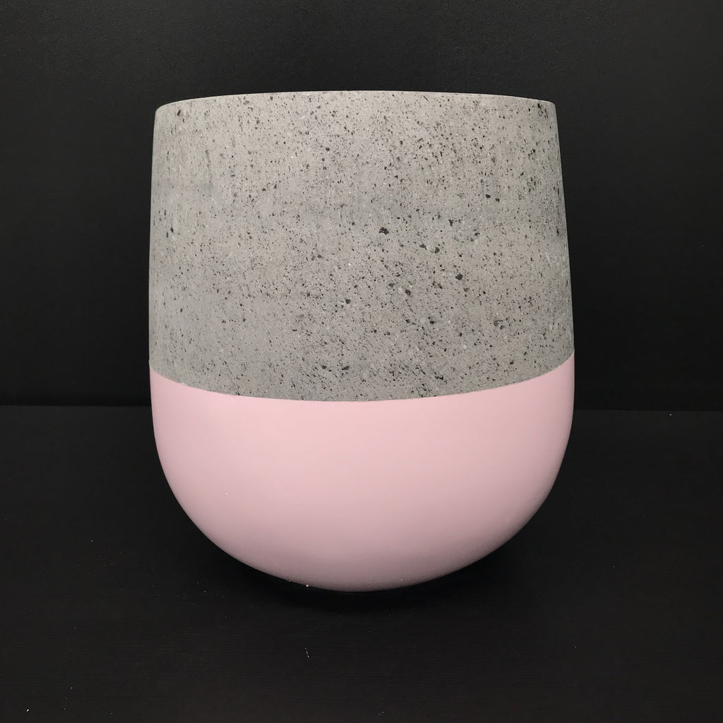 BLUSH Painted Dip - Concrete Lotus Pot - Razzino Furniture