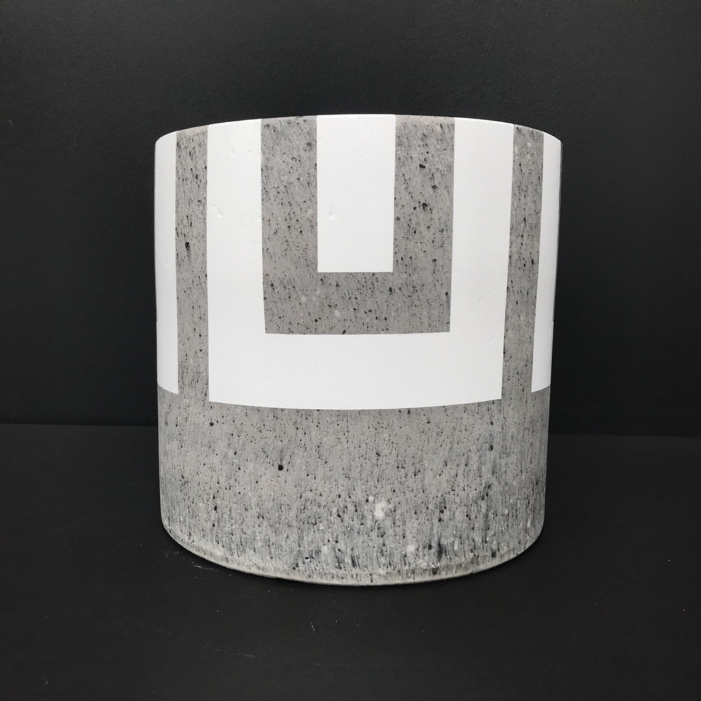 WHITE Painted Athens - Concrete Cylinder Pot - Razzino Furniture