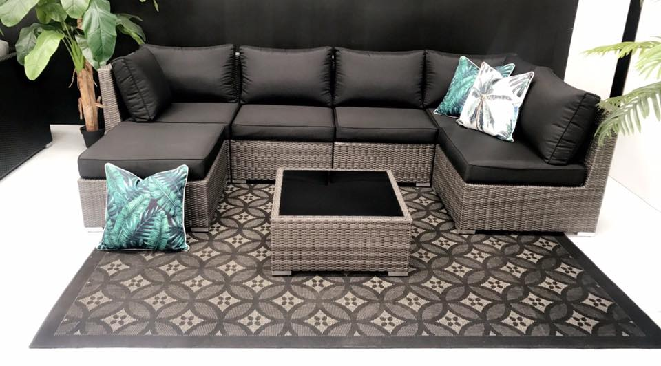 7pc SIESTA Outdoor Multi Way Rattan Modular Lounge Set - Razzino Furniture
