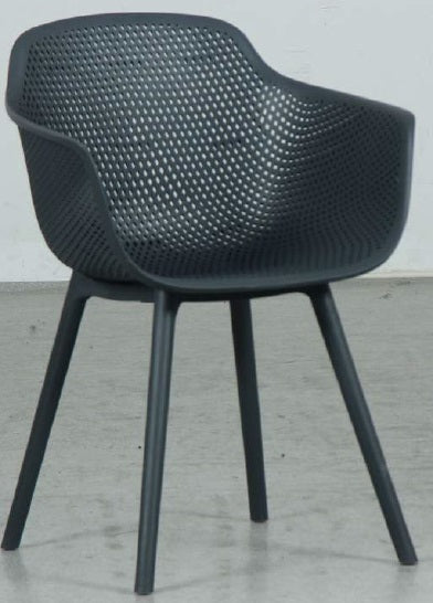 Ace PP Outdoor Dining Chair - Gunmetal - Razzino Furniture