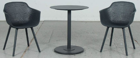 Casa Teak 5pc Outdoor Bar Setting - Gunmetal