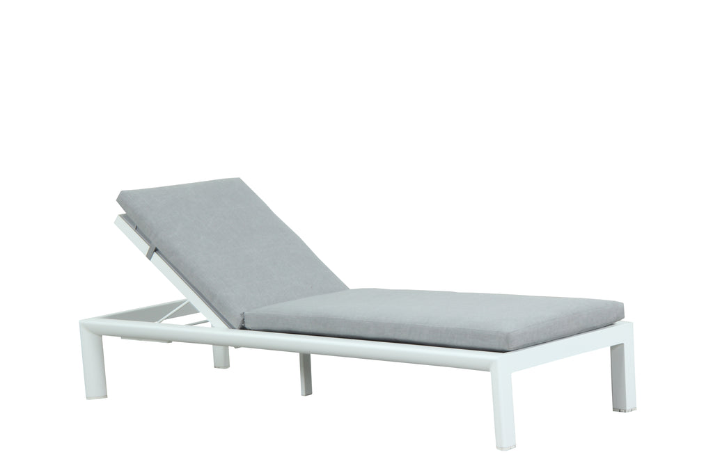 Dune Pool Sun Lounge - Matte White - Razzino Furniture
