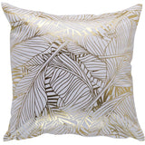Indoor Cushion - GOLD 'Tropical Leaves' - Razzino Furniture