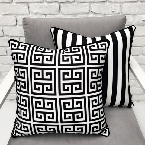 Leafy Greens Reverse Print Outdoor Cushion