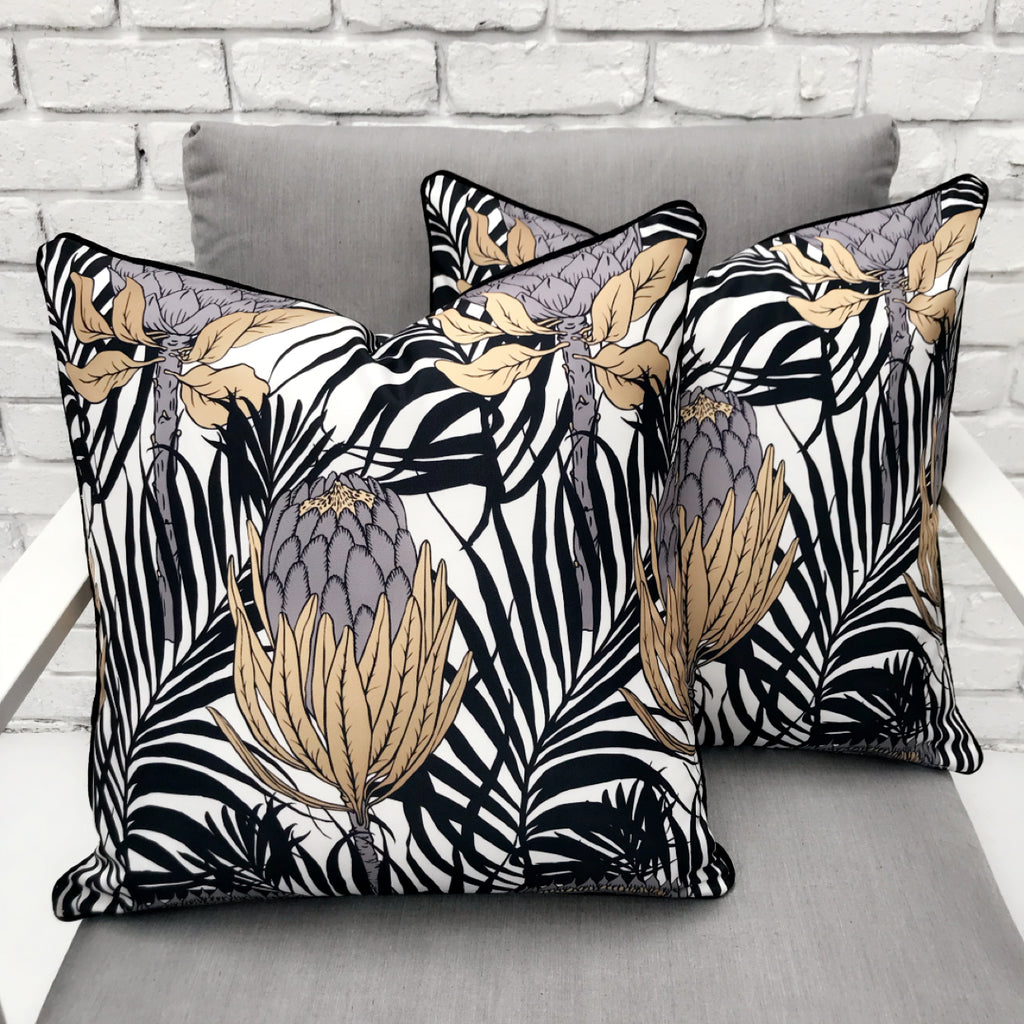 Australiana Protea Print Outdoor Cushion - Razzino Furniture