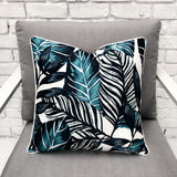 Leafy Greens Reverse Print Outdoor Cushion - Razzino Furniture