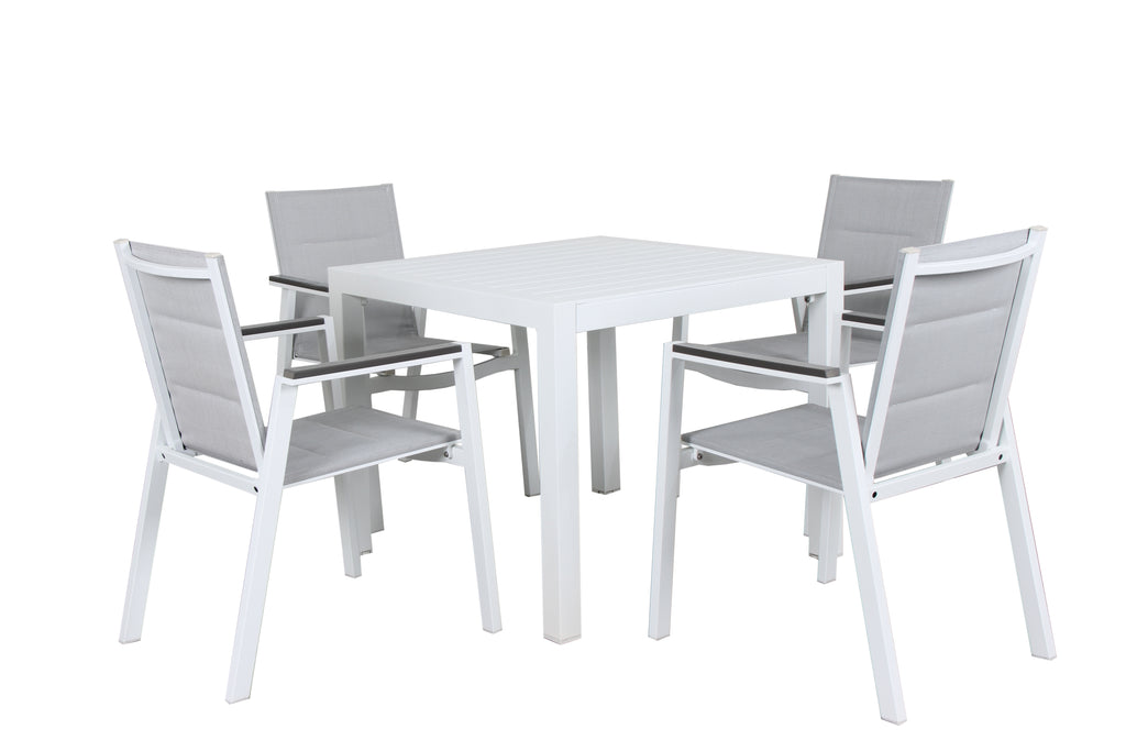 Oslo Square Outdoor Aluminium Dining 5pc Set - Razzino Furniture