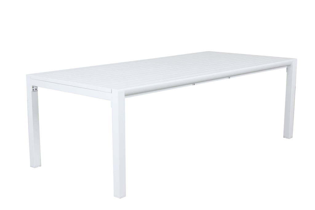 Oslo Aluminium Outdoor Extension Dining Table - Matte White - Razzino Furniture